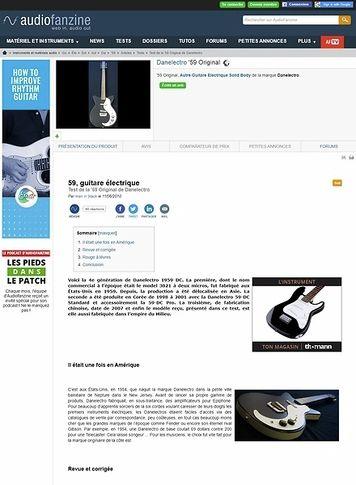 Audiofanzine.com Danelectro '59 Original