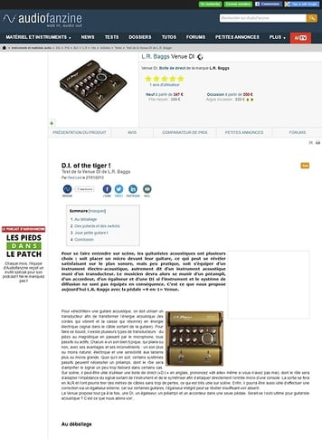 Audiofanzine.com L.R. Baggs Venue DI