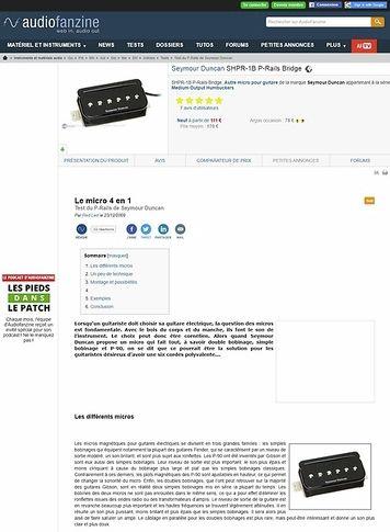 Audiofanzine.com Seymour Duncan SHPR-1 P-Rails