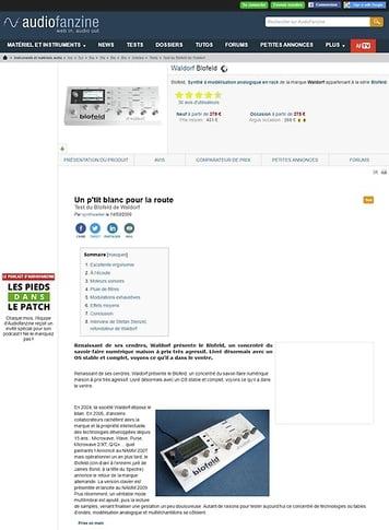 Audiofanzine.com Waldorf Blofeld