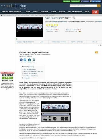 Audiofanzine.com Rupert Neve Designs Portico5043
