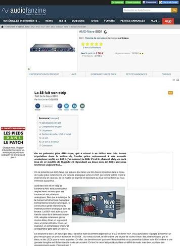 Audiofanzine.com AMS-Neve 8801