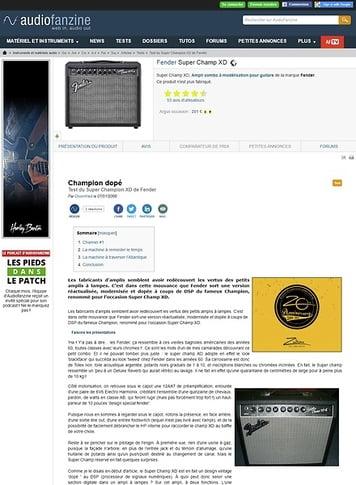Audiofanzine.com Fender Super Champ XD