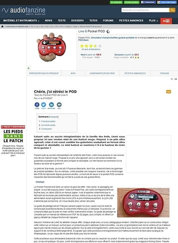 Audiofanzine.com Line 6 pocketPOD