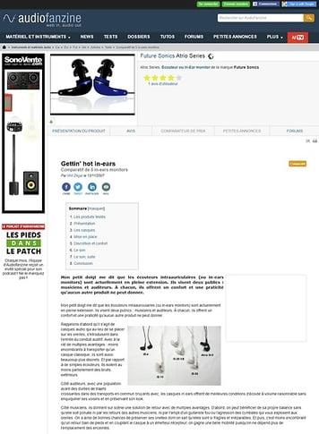 Audiofanzine.com Future Sonics Atrio Series