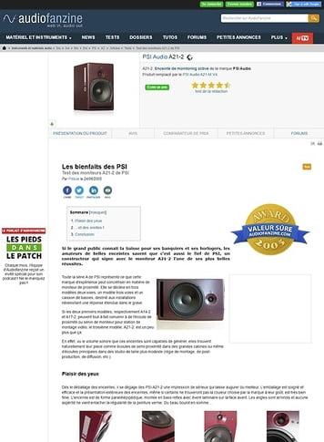 Audiofanzine.com PSI Audio A21-2
