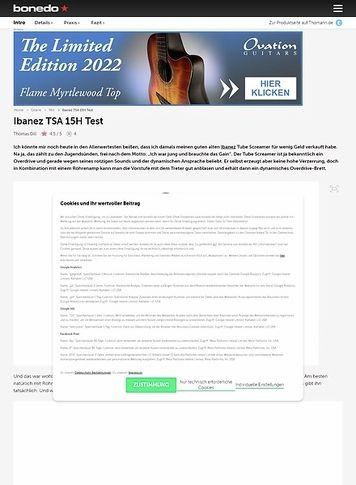 Bonedo.de Ibanez TSA 15H Head & TSA 112 C Box