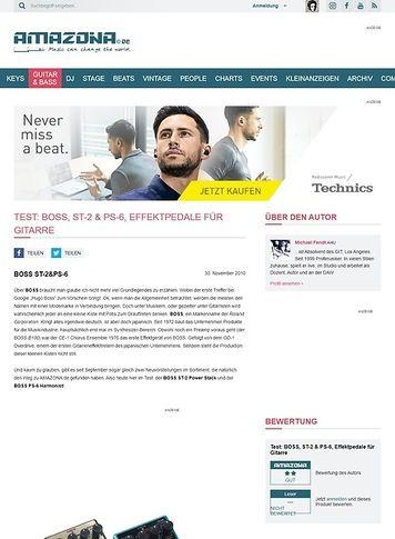 Amazona.de Test: BOSS, ST-2 & PS-6, Effektpedale für Gitarre