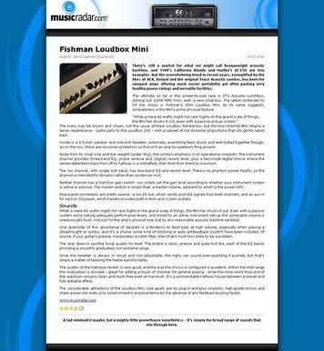 MusicRadar.com Fishman Loudbox Mini