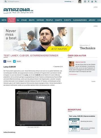 Amazona.de Test: Laney, CUB12R, Gitarrenverstärker