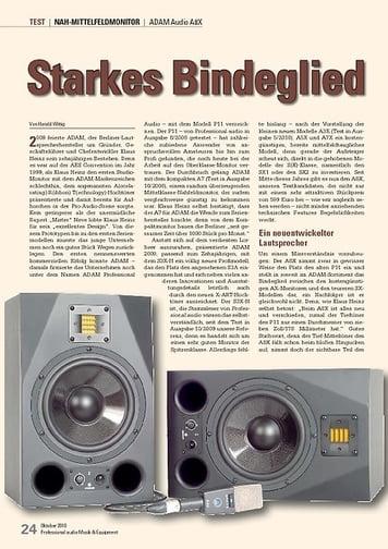 Professional Audio Starkes Bindeglied ADAM Audio A8X