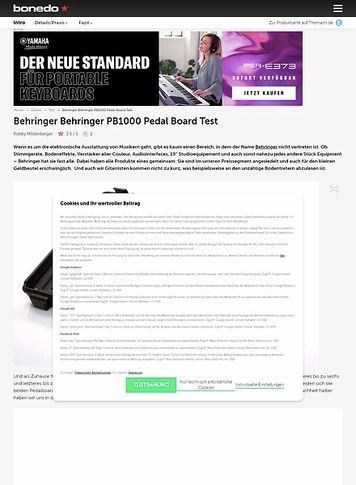 Bonedo.de Behringer PB1000 Pedal Board