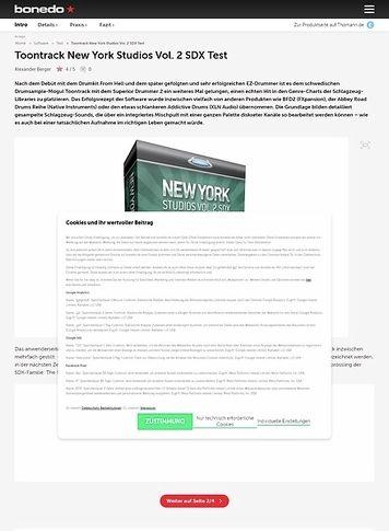 Bonedo.de Toontrack New York Studios Vol. 2 SDX