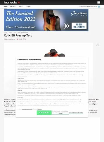 Xotic B BB Preamp – Musikhaus Thomann on