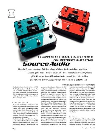 Gitarre & Bass Source Audio Soundblox Pro Classic Distortion und Pro Multiwave Distortion