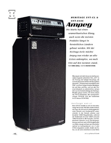 Gitarre & Bass Ampeg Heritage SVT-CL & SVT-810E, Bass-Anlage