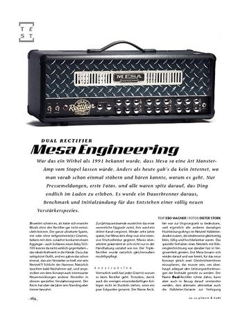 Gitarre & Bass Mesa Engineering Dual Rectifier, Tube-Head