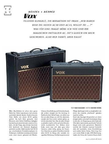 Gitarre & Bass Vox AC15C1 & AC30C1, Röhren-Combos