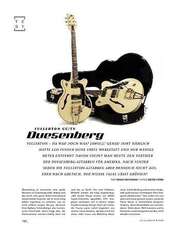 Gitarre & Bass Duesenberg Fullerton CC/TV, E-Gitarren