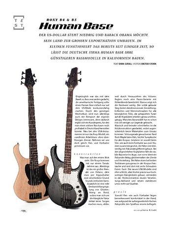 Gitarre & Bass Human Base Roxy B4 & B5, E-Bässe