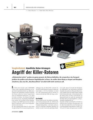Keyboards Vergleichstest: Handliche Rotor-Lösungen