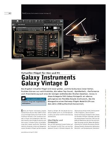 Sound & Recording Galaxy Instruments Galaxy Vintage D