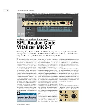 Sound & Recording SPL Analog Code Vitalizer MK2-T