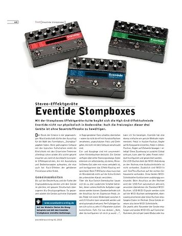 Sound & Recording Eventide Stompboxes