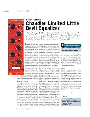 Sound & Recording Chandler Limited Little Devil Equalizer
