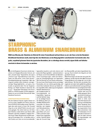 Sticks Tama Starphonic Brass & Aluminum Snaredrums
