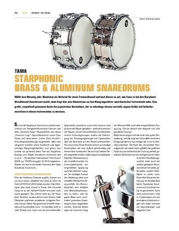 Sticks Tama Starphonic Brass & Aluminum Snaredrums