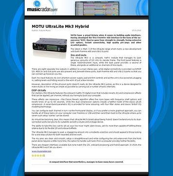 MusicRadar.com MOTU UltraLite Mk3 Hybrid