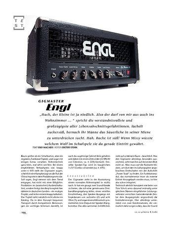Gitarre & Bass Engl Gigmaster, Röhren-Top