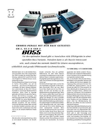 Gitarre & Bass Vergleichstest: Boss Chorus-Pedale mit Bass getestet