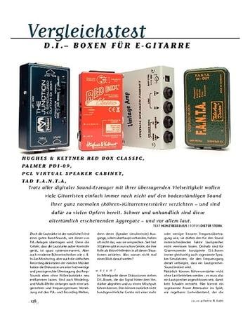 Gitarre & Bass Vergleichstest: D.I. Boxen für E-Gitarre