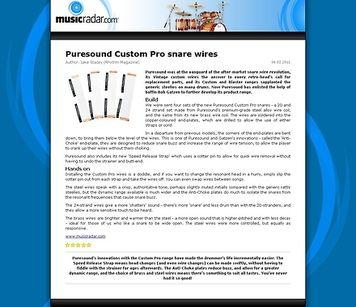 MusicRadar.com Puresound Custom Pro snare wires