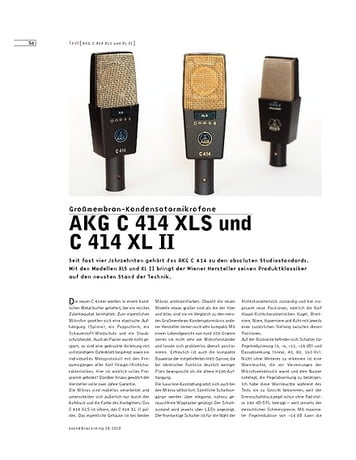 Sound & Recording AKG C 414 XLS und C 414 XL II