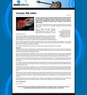 MusicRadar.com Yamaha TRB 1004J