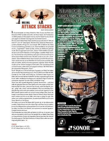 Sticks Meinl Cymbals Attack Stacks