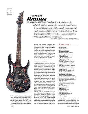 Gitarre & Bass Ibanez JEM77 FP2, E-Gitarre