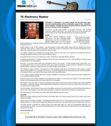 MusicRadar.com TC Electronic Shaker