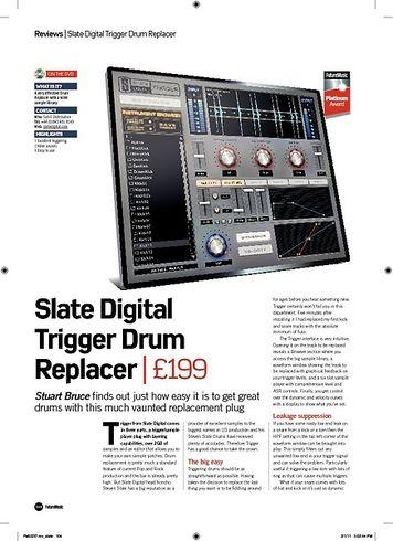 Future Music Slate Digital Trigger Drum Replacer