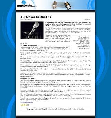 MusicRadar.com IK Multimedia iRig Mic