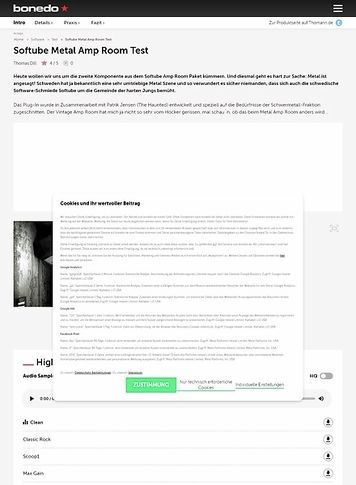 Bonedo.de Softube Metal Amp Room