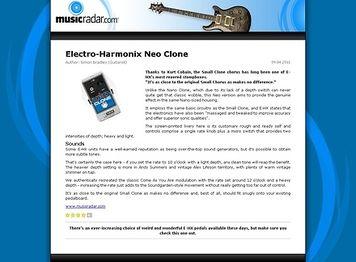 MusicRadar.com Electro-Harmonix Neo Clone