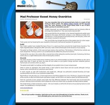 MusicRadar.com Mad Professor Sweet Honey Overdrive