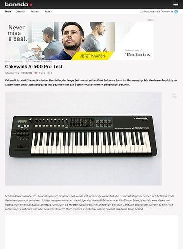 Bonedo.de Cakewalk A500 Pro