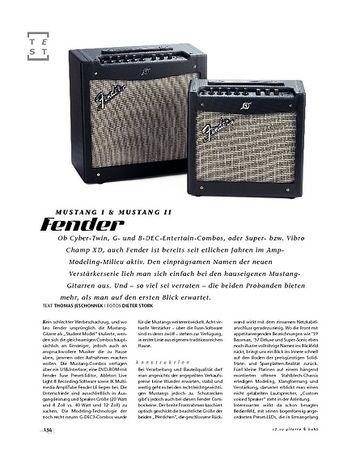 Gitarre & Bass Fender Mustang I & Mustang II, Modeling-Combos