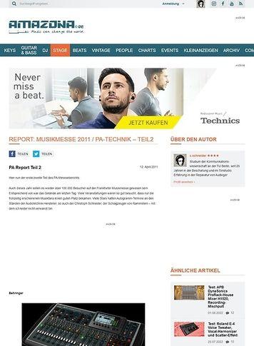 Amazona.de Report: Musikmesse 2011 / PA-Technik - Teil2