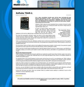 MusicRadar.com Softube TSAR-1